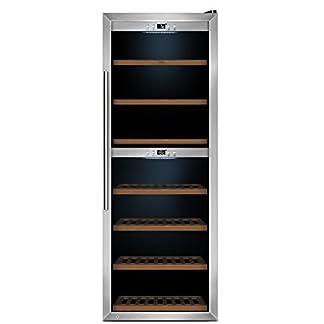 CASO-WineComfort-126-Design-Weinkhlschrank-fr-bis-zu-126-Flaschen-bis-zu-310-mm-Hhe-zwei-Temperaturzonen-5-20C-Getrnkekhlschrank-Energieklasse-B