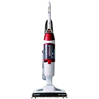 Bissell-1132N-Vac-Steam-All-in-One-hochwertiger-Staubsauger-und-Dampfreiniger-1600-Watt-weirot