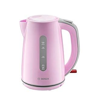 Bosch-TWK7500K-Wasserkocher-kabellos-Kunststoff-Grau-Pink