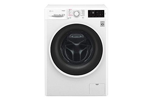 LG-f4j6ty0-W-autonome-Belastung-Bevor-8-kg-1400trmin-A-30-wei-Waschmaschine–Waschmaschinen-autonome-bevor-Belastung-wei-links-LED-Edelstahl