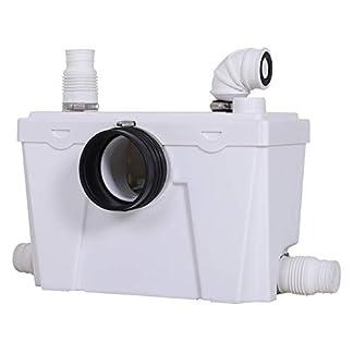 HOMCOM-Hebeanlage-Abwasserpumpe-Fkalienpumpe-Haushaltspumpe-fr-WC-Dusche-400W-45x215x29cm-L45-x-B215-x-H29-cm
