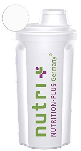 Nutri-Plus Classic Shaker (Transparent) 700ml für Eiweiß-, Protein- und Diätshakes – mit Schraubverschluss und Sieb – BPA-frei