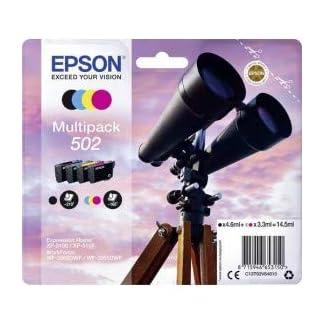 Epson-C13T02V64010-Multi-Pack-Schwarz-Gelb-Magenta-Cyan-Original-Tintenpatronen-4er-Pack