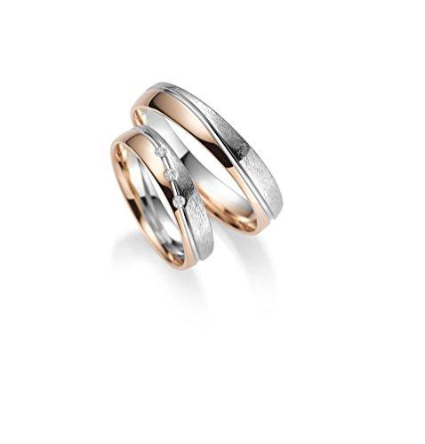 333 GOLD Trauringe – Rubin Juwelier – inkl 3 Steine + Gravur