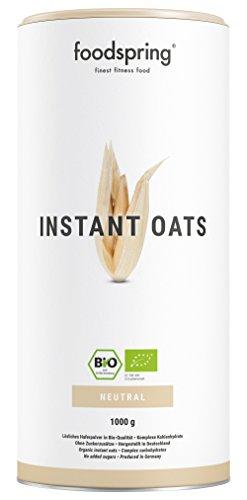 foodspring Bio Instant Oats, 1000g, Natürlicher Weight Gainer mit perfekter Löslichkeit