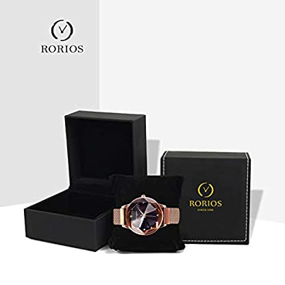 RORIOS-Fashion-Damen-Armbanduhren-Leuchtenden-Sternenklarer-Himmel-Dial-Armband-Meshband-Women-Watch-Damenuhr-Armbanduhr