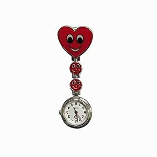 Design-Krankenschwesteruhr-Damenuhr-Smiley-Herz-Design-Krankenschwesteruhr-Quarzuhr-Damenuhr-Taschenuhr-mit-Clip