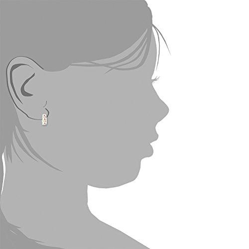 Prinzessin Lillifee Kinder-Creolen Mädchen Blume 925 Silber emailliert bunt