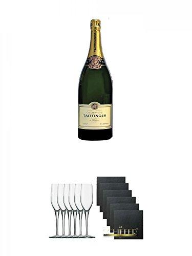 Taittinger-Brut-Reserve-Champagner-Methusalem-in-HK-60-Liter-Stlzle-Exquisit-Sektkelch-6er-Pack-Schiefer-Glasuntersetzer-eckig-6-x-ca-95-cm-Durchmesser
