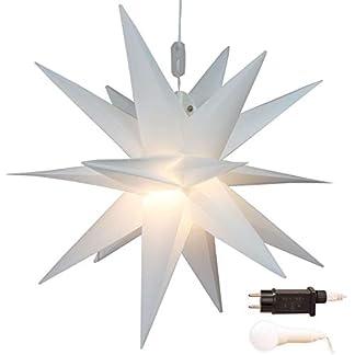Stern-Weihnachten-wei-beleuchtet–45-cm-mit-18-Zacken-zum-Aufhngen-auen