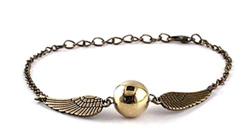 Harry Potter Armband oder Schnatz Halskette Flügeln Glocken Glöckchen antik bronze fanartikel Heiligertürmer des Todes Neuheit