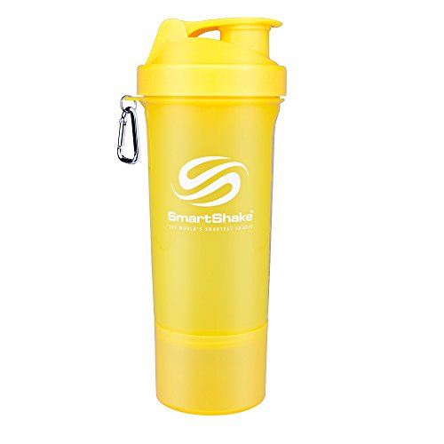 SmartShake 500 ml/18 oz, gelb Slim neon, 1er Pack