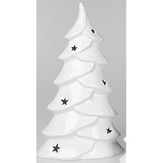 Formano-764010-Winterdeko-Windlicht-Weihnachten-Baum-Tannenbaum-Wei-Hoch-Gro-40-cm-Weihnachtsdekoration