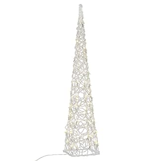 Nipach-LED-Pyramide-Lichterkegel-Beleuchtung-fr-Weihnachten-innen-auen-Acryl-Figur-mit-Trafo-IP44-60-Leuchten-warm-wei-90-cm-hoch