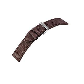 Canvas-Ersatzband-Uhrenarmband-Band-Materialmix-Textil-Leder-20mm-25950S