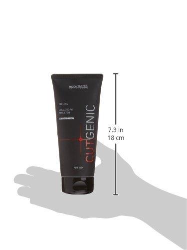 Bodyraise CutGenic Creme für Männer 200ml : Thermogenes Supplement für Die Fettverbrennung – Stoffwechselanregend und Fettbekämpfend – Definition der Bauchmuskeln
