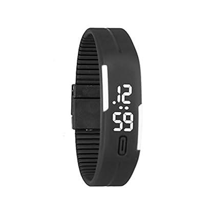 Franterd-Mode-Herren-Frauen-Damen-Armbanduhr-Elegant-Rubber-LED-Uhr-Datum-Sports-Armband-Digital-Armbanduhr-SchwarzWei