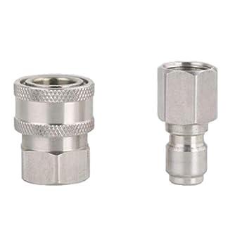 2tlg-Hochdruckreiniger-Kupplung-Stecknippel-Schnellkupplung-38-Zoll-Quickconnectmalefemale
