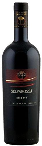 6x-075l-2013er-Cantina-Due-Palme-Selvarossa-Salice-Salentino-Riserva-DOC-Apulien-Italien-Rotwein-trocken
