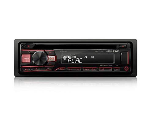 Alpine-CDE-201R-1-DIN-Autoradio-CD-USB-AUX-fr-Mitsubishi-Colt-CZC-Z3B-2006-2009-dunkelgrau