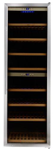 CASO-WineComfort-180-Design-Weinkhlschrank-fr-bis-zu-180-Flaschen-bis-zu-310-mm-Hhe-zwei-Temperaturzonen-5-20C-Getrnkekhlschrank