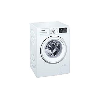 Siemens-iQ500-WM14T409FF-Waschmaschine-9-kg-freistehend-Frontlader-1400-Umin-A-30-wei-Transchlag-links-LED-Kunststoff
