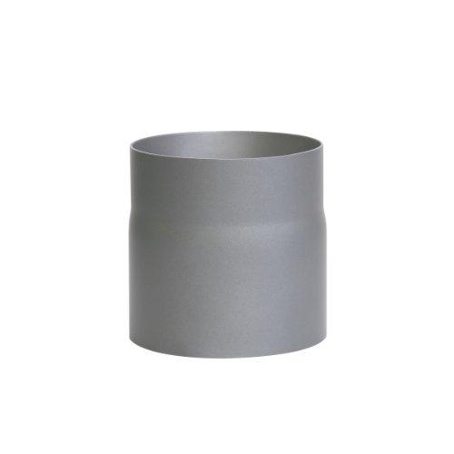 Kamino Flam Ofenrohr gussgrau, Rauchrohr aus Stahl für sichere Ableitung von Verbrennungsgasen, hitzebeständige Senotherm Beschichtung, geprüft nach Norm EN 1856-2, Maße: L 150 x Ø 150 mm