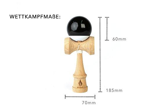 Premium-Kendama-aus-Buchenholz-schwarz-weie-Kugel-Geschicklichkeitsspiel-von-Simploducts-fr-jedes-Alter-traditionelles-Kugelfangspiel-aus-Japan-Original-Design-aus-Deutschland