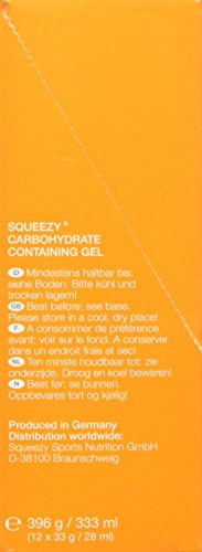 Squeezy Sports Nutrition Energy Gel Box 12 Beutel 33 g Himbeere, 1er Pack (1 x 396 g)