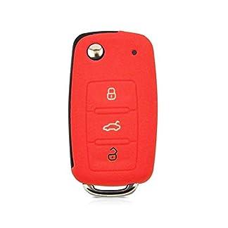 Auto-Fernbedienungsschutz-aus-Silikon-passend-fr-Volkswagen-VW-Golf-Skoda-Seat