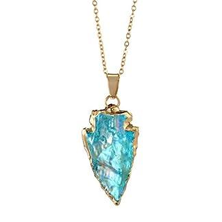 Darringls-Anhnger-Halskette-Damen-Mode-einzigartige-natrliche-Bunte-Stein-Schmuck-Halskette-wunderschnen-Gnstig-Geschenk-Golden-Kristall-online-kettenanhnger-Herz-Lange-Ketten