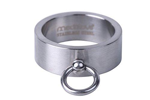 "meditoys® – 'Ring der O' in Edelstahl (matt), SM Finger-Ring Damen Herren – BDSM Schmuck – Geschichte der O – Fifty Shades of Grey"""