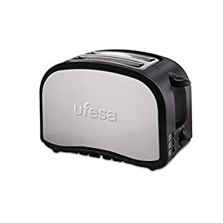 Ufesa-TT7985-Toaster-Optimal-silberfarbenSchwarz