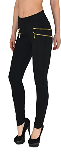 by-tex Damen High Waist Hose Stretch Röhrenhose Damen High Waisted Hose bis Übergröße 48, 50, 52, #J189