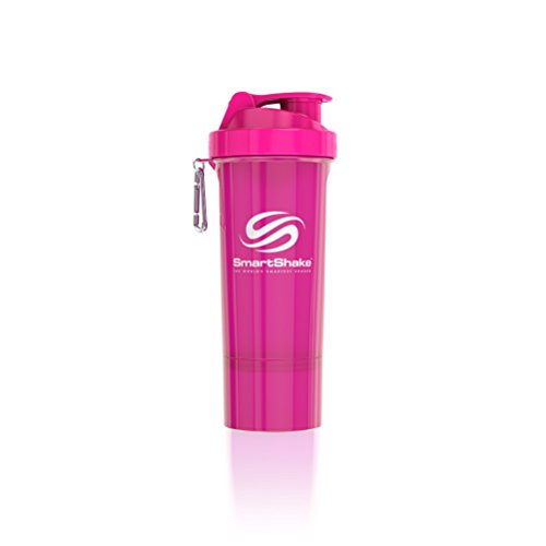 SmartShake 500 ml/18 oz, pink Slim neon, 1er Pack