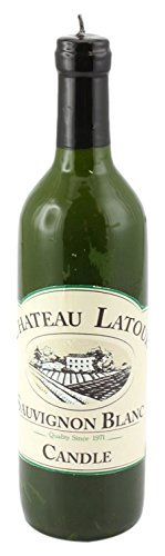 Leonardo-Collection-Novelty-White-Wine-Bottle-Shaped-Candle-Green-by-The-Leonardo-Collection