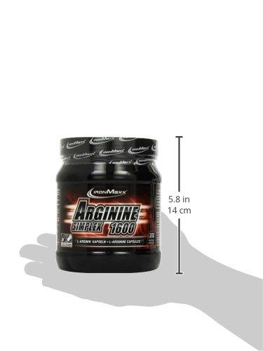 IronMaxx Arginin Simplex 1600 / Ideal für Bodybuilding / Extra hohe Konzentration von L-Arginin Aminosäuren / Muskelaufbau, Kraftaufbau und Ausdauertraining / Supplement / 300 XXL Kapseln (Tricaps)