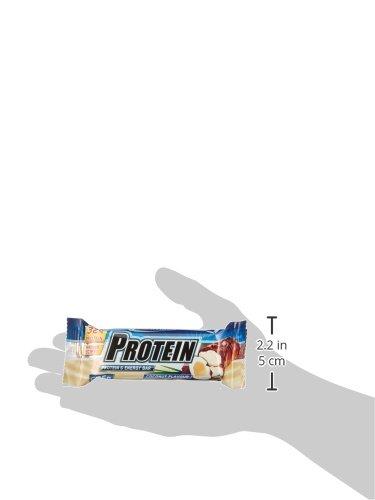 IronMaxx Protein Riegel / Protein Bar 32% Eiweiß / Riegel mit wenig Zucker und Kohlenhydrate / Fördert Muskelaufbau und Muskelerhalt / Leicht bekömmlich / Sport Riegel Kokosnuss / 24x35g (1x840g)