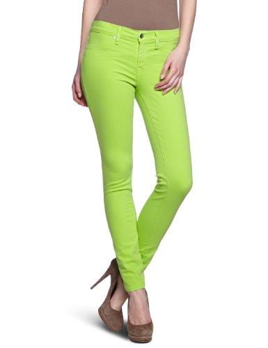 Henry & Belle Damen Super Skinny Ankle Jeans Fluo Grün