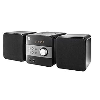 Stereoanlage-mit-CD-USB-MP3-Radio-AUX-In-UKW-Kompaktanlage-Fernbedienung-Integrierte-Lautsprecher-Stereo-Musikanlage-HiFi-Tuner-schwarz-Dual-ML-12