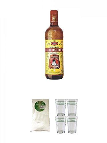 Velho-Barreiro-Silver-Cachaca-Originalabfllung-07-Liter-Sarkara-weier-Rohrzucker-fr-Cocktails-15-Kg-Velho-Barreiro-Caipirinha-Glas-4-Stck