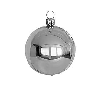 Thringer-Weihnacht-Christbaumkugel-Set-uni-silber-glnzend