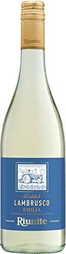 Lambrusco-bianco-RIUNITE-dolce-DellEmilia-DOC-075-L-Vino-Frizzante-Weier-Ser-Perlwein-75-Vol-aus-Italien