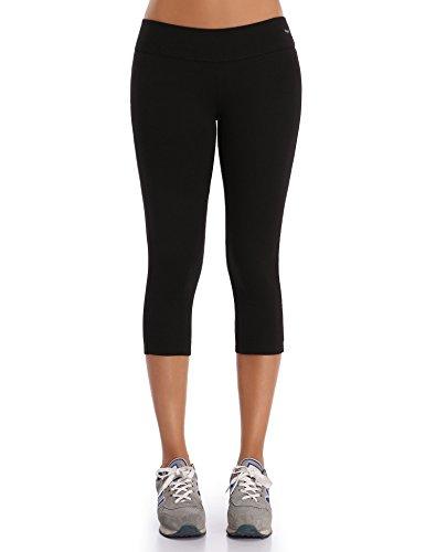 WingsLove Damen Capris Yoga Sporthose Laufenhose 3/4 Leggings Training Sport Strumpfhosen