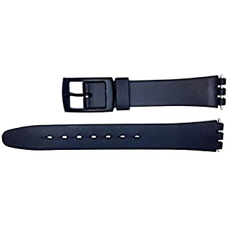 New-12mm-15mm-Sized-Replacement-Resin-Strap-Compatible-for-Swatch-Watch-Black