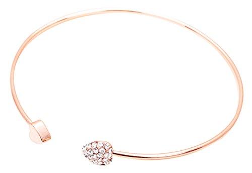 KAIKSO-IN Schöne Frauen nette Schmucksache-Gold füllte Herz-Form-Charme-Armband-