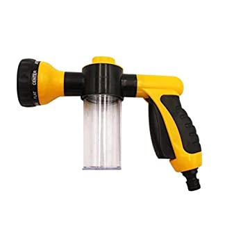 Multi-Funktions-Wasser-Gewehr-Autowaschwasserpistole-Hochdruck-Wasser-Gewehr-Auto-Wsche-Dusche-Garten-Wasserpistole-Acht-In-One-Schaum-Topf-Gelb