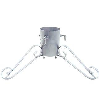 Harbour-Housewares-Elegante-Christbaumstnder-fr-Bume-bis-zu-22-m-Silber