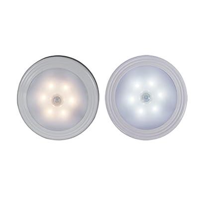 LEDMOMO-Bewegungssensor-Licht-Batteriebetriebenes-LED-Nachtlicht-Bewegungssensor-Lampe-fr-Flur-Bad-Schlafzimmer-Kche-etc-Pure-White