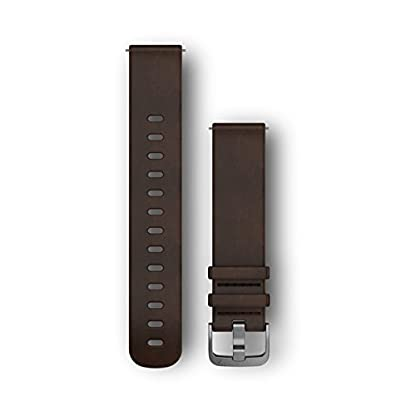 Garmin-Lederarmband-Schnellwechsel-Armband-Leder-Dunkelbraun-M